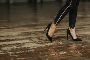 Lady wearing heels